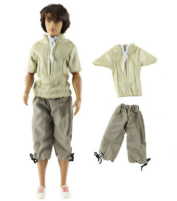 Dll clothing/Outfit/Tops+Pants For Barbie's BF Ken Doll Clothes B49
