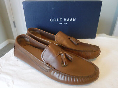 012db1e2c97 New Cole Haan Rodeo Tassel Driver Moc Loafers Slip Ons Dress Casual 11 B