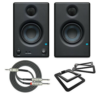 "Presonus E 3.5 2-Way 3.5"" Near Field Studio Monitors with Kanto Stands and Cable"