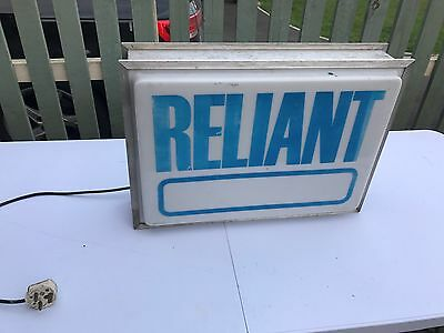 Old Original Lightbox Showroom Garage Reliant Sign Scimitar Robin Bond Bug Sabre