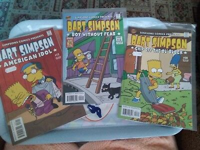 Comic Books Lot 3 x Simpson Comics Presents Bart Simpson Issue 12, 13, 20....