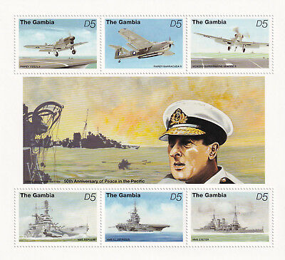 (74430) Gambia MNH Peace in the Pacific minisheet 1995 unmounted mint