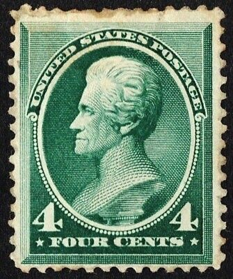 US Sc# 211 *MINT OG H* { 4c ANDREW JACKSON } GREAT BANKNOTE FROM 1883 CV$ 300.00
