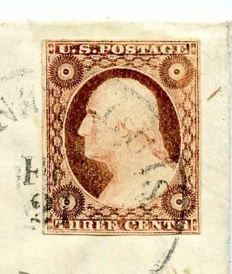 Poor Phoebe! Great 1855 St. Louis MO Letter with  a Great 4-Margined #11 Ty.II!