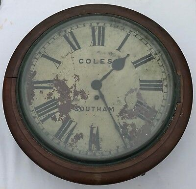 Stunning Rare Antique Fusee Wall Clock Chain Driven COLES SOUTHAM