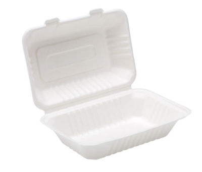 Biodegradable and Compostable Clamshell Bagasse Takeaway 9'' Food Container Box