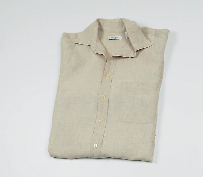 THE KOOPLES MENS Linen T Shirt With Sheep Leather Button Strip Size ... edb48d87edd2