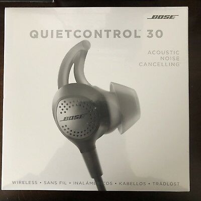 Bose QuietControl 30 QC30 Headphones New Factory Sealed Black Free Shipping