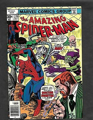 THE AMAZING SPIDER MAN #170   Marvel Bronze Age  Green Goblin Dr Octopus VF