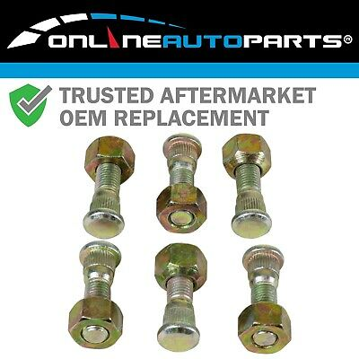 6 pack of REAR Wheel Studs + Nuts fit suits Toyota Hilux 1988~2005 Ute 4wd 4x4