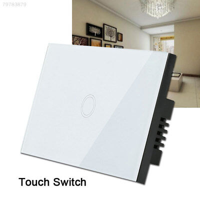 12D7 Tempered Glass  Panel Light Remote Control 1 Way Smart Home Durable