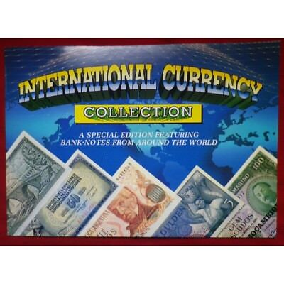 World International Currency Collection Of 15 Banknotes With Folder!