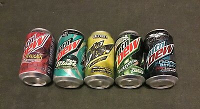 Mountain Dew Lot of  5 Out of Print 12 oz Cans. They are Full.