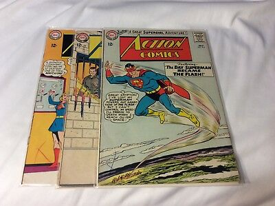 Lot of  3 Action Comic # 314, 315, 316 G+ to Vg cond.