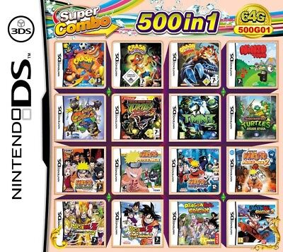 500 Games IN 1 Game Cartridge Multicart For Nintendo DS NDS NDSL NDSi 3DS 2DS XL