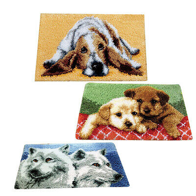 DIY Needle Crafts Animal Latch Hook Rug Kit for Beginners Embroidery 50x30cm