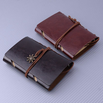 Vintage Style Retro Leather Journal Travel Notebook Blank Diary Organiser
