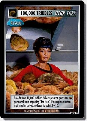 Star Trek Ccg Twt Trouble With Tribbles 100,000 Tribbles (Rescate) 137R