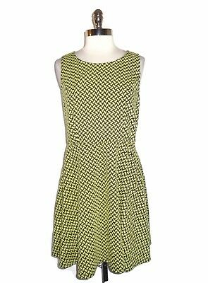 381aa3d167e1 FOREVER 21 Plus Size 2X Dress Black Green Geometric Fit and Flare Stretch  Knit
