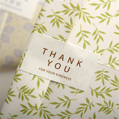 96pcs/Set Thank you Kraft Seal Stickers For Handmade Products DIY Packaging JR