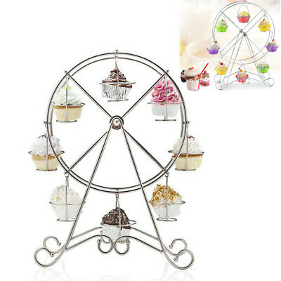 Ferris Wheel Cupcake Stand Cake Holder Display Stainless Steel Wedding Party AM8