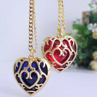 Legend of Zelda Sword Heart Shape Container Necklace Pendant Chain MH