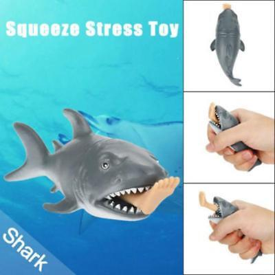 Soft Shark Stress Reliever Ball Animal Adult Kids Squeeze Toy Gift MH