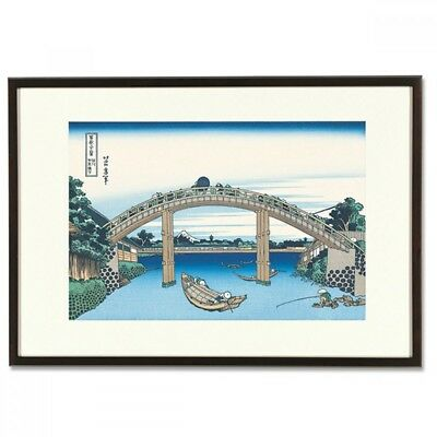 Hokusai Woodblock Print - Under Mannen Bridge at Fukagawa - 36 Views of Mt. Fuji