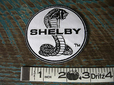 Vintage Style Shelby Snake Racing Patch Ford Mustang Cobra Carroll Shelby Gt500