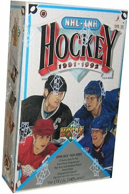 1991-92 Upper Deck Hockey High Series Factory Sealed Box. Forsberg, Lidstrom RC