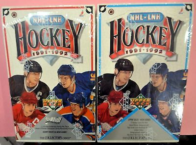 1991-92 Upper Deck Hockey Factory Sealed 2 Box Lot (Low and High Series)
