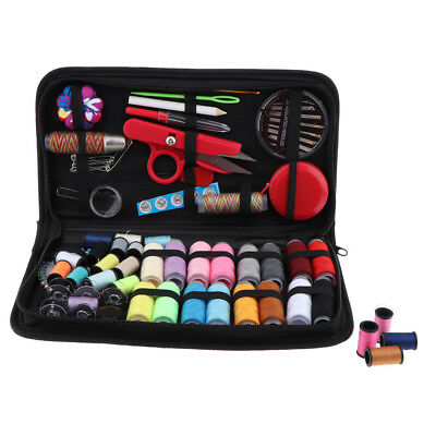 138pcs/set Portable Travel Home Sewing Kit Case Needle Thread Tape Scissors
