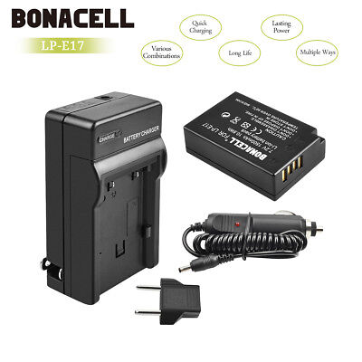 Battery + Charger LP-E17 For Canon EOS M3 750D 780D 8000D Rebel T6i T6s X8i UB