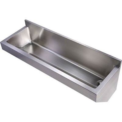 Noahs Brushed Stainless Steel 47.25-Inch Commercial Wall Hung Laundry-Scrub Sink