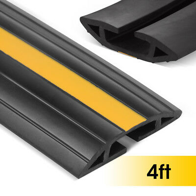 Stageek 1.2M Floor Cable Cover Floor Flexible PVC Cable Protector Black & Yellow