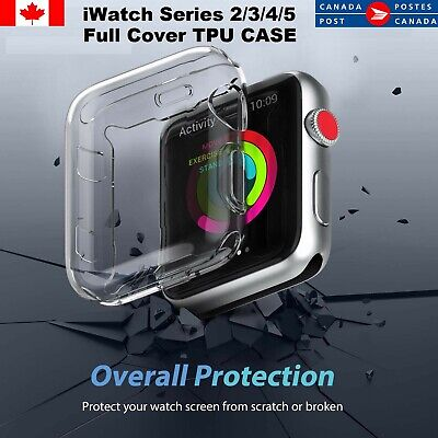 Watch Series 4 Full Cover TPU Case Screen Protector Watch 40/44mm CA SELL