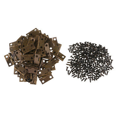 50pcs Mini Iron Hinges Toy Box Trunk Chest Cabinet Jewelry Boxes Hinge 18mm