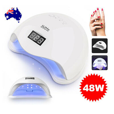 SUN5 48W LED UV Nail Lamp Light Gel Polish Dryer Manicure Art Curing Timer AU