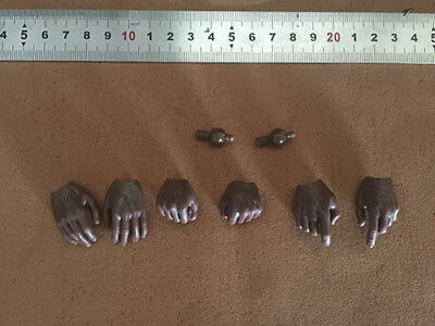 """1 set 1/6 Scale Black Hand type Model For 12"""" Hot Toys HT Body Figure Doll Toy"""