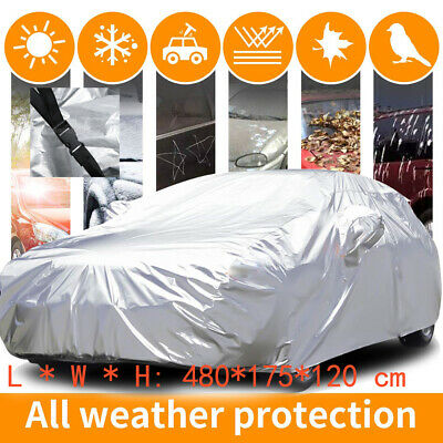 100% Waterproof Medium Full Car Cover Heavy Duty Breathable UV Protection 3Layer