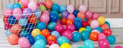 "Mini Latex Balloons 5""/12cm 15 Different Colours Helium Birthdays Party Weddings"