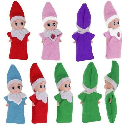New Elf Baby Plush Christmas The Shelf Dolls Boy Girl Figure Decor Xmas Toys US