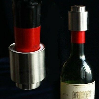 Sealer Vacuum Sealed Bottle Stopper Caps Red Wine Champagne Stainless Steel #AM8