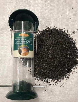 1kg Wild Bird Niger Seed WITH an all Metal Top and Bottom Feeder by Maltbys