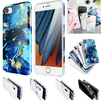 For iPhone XS Max X XS XR 6S 7 8 Plus Marble Pattern Shockproof Soft Case Cover