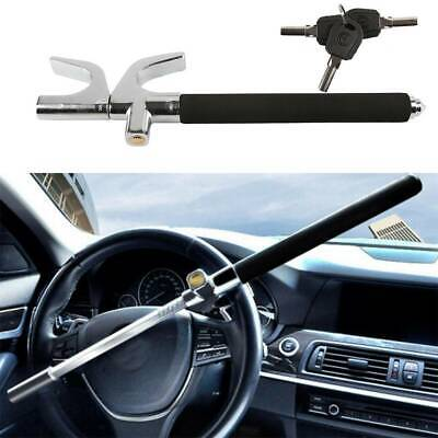 New Black Heavy Duty Universal Cars Steering Wheel Lock Anti Theft Clamp|3 Keys