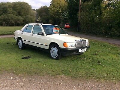 Mercedes 190E Automatic 1988 with private plate only 106,000 miles
