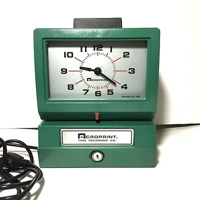 Acroprint Heavy Duty Automatic Time Recorder Time Clock 125Nr4
