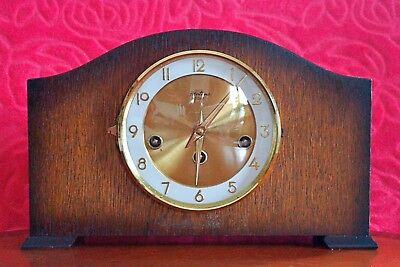 Vintage 'Bentima' Floating Balance 8-Day Mantel Clock with Westminster Chimes