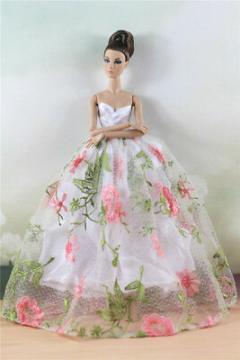 Fashion Party Dress/Wedding Clothes/Gown For Barbie Doll d02